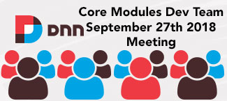 Core modules meeting September 27th 2018