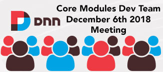 Core modules meeting November 8th 2018
